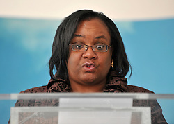 © London News Pictures. FILE PIC 02/09/2010. DIANE ABBOTT delivers her speech in  Westminster on 2nd Sept 2010. Reports have suggested that Diane Abbott might be promoted to the shadow cabinet in the weeks expected reshuffle. Stephen Simpson/LNP