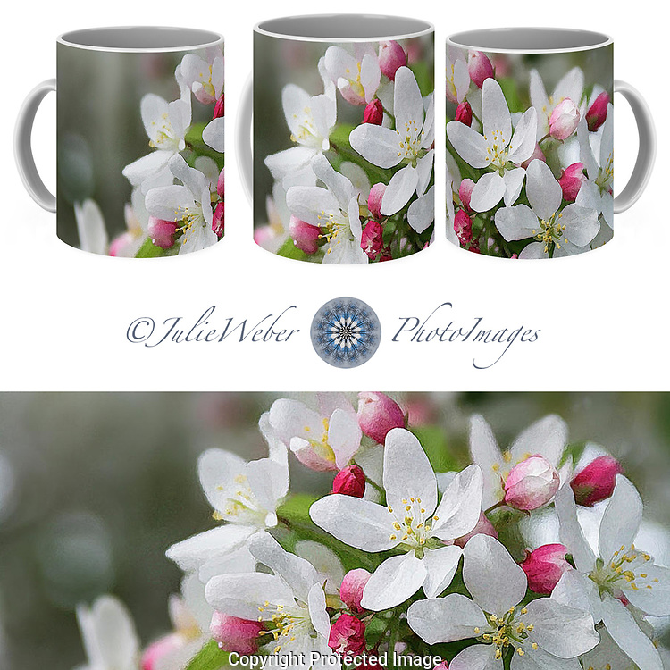 Coffee Mug Showcase 91 - Shop here: https://2-julie-weber.pixels.com/featured/crabapple-blossoms-12-julie-weber.html?product=coffee-mug