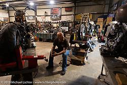 Bill Dodge in his Daytona Beach shop. FL, USA. Sunday, March 13, 2016. Photography ©2016 Michael Lichter.