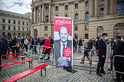 SPD Chancellor candidate and current German Finance Minister Olaf Scholz at an election campaign event of the German Social Democratic Party (SPD) at Bebelplatz square In Berlin, Germany, August 27, 2021. Germany's federal elections are due to take place on September 26, 2021.