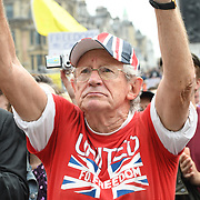 24 July 2021, Trafalgar London. Thousands of protesters gather in London to oppose covid vaccines and government restrictions, London, UK.