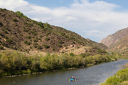 rafters on The Rio Grande in New Mexico
