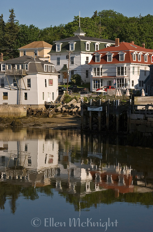 Houses on the Harbor in Stonington, Maine