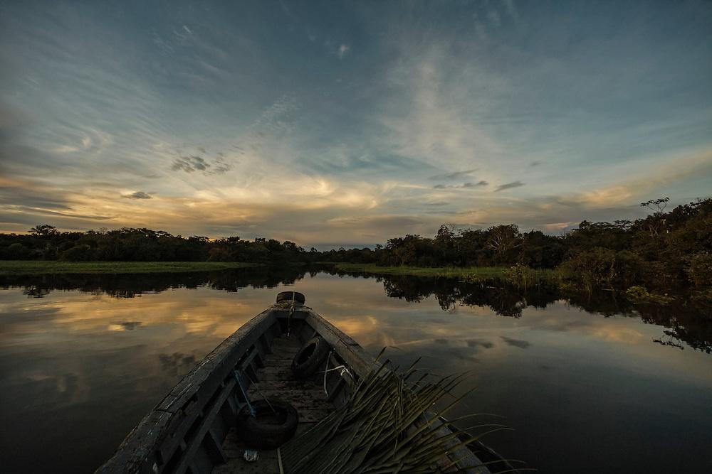 Brazil, Amazonas, rio Solimoes, Manaus.