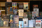 Various book covers on display in the window of Waterstones book shop on 3rd March 2021 in London, England, United Kingdom.