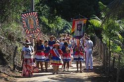 April 29, 2019 - Roda Dagua City, Brazil - Traditional 'Congo' dancers take part at the feast of Our Lady of Penha, Patron of the state of Espirito santo in Roda Dagua City, Brazil 29 April 2019. (Credit Image: © Gilson Borba/NurPhoto via ZUMA Press)