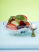 Healthy summer snack Yogurt and fruit