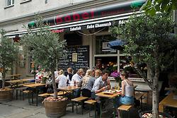 Restaurant in bohemian Prenzlauer Berg district of Berlin Germany