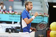 Daniel Evans of Great Britain during the Mutua Madrid Open 2021, Masters 1000 tennis tournament on May 6, 2021 at La Caja Magica in Madrid, Spain - Photo Laurent Lairys / ProSportsImages / DPPI