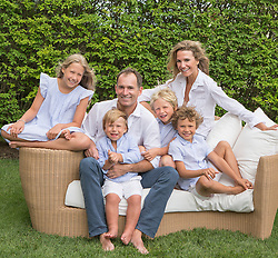 family portrait outdoors in The Hamptons