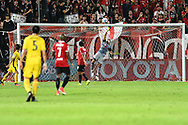 NONTHABURI, THAILAND - JULY 02: Kawin of SCG Muangthong United save during the second half of the Thai League: SCG Muangthong United vs Pattaya United at SCG Stadium, Nonthaburi, Thailand on July 02, 2017.<br /> .<br /> .<br /> .<br /> (Photo by: Naratip Golf Srisupab/SEALs Sports Images)<br /> .<br /> Any image use must include a mandatory credit line adjacent to the content which should read: Naratip Golf Srisupab/SEALs Sports Images