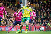 Norwich City midfielder Marco Stiepermann (18) during the EFL Sky Bet Championship match between Norwich City and Queens Park Rangers at Carrow Road, Norwich, England on 6 April 2019.