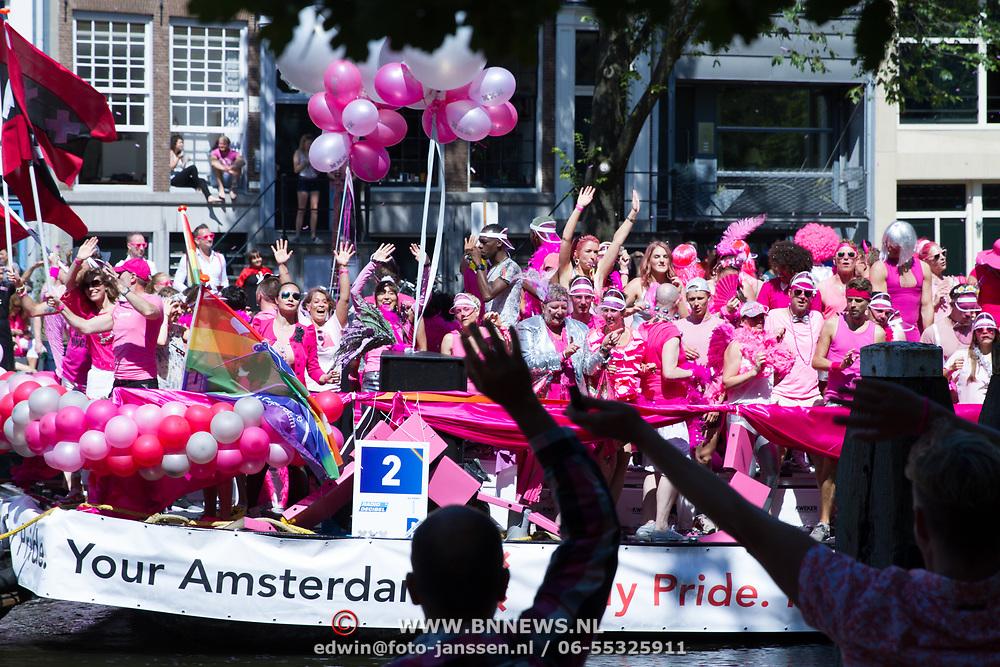 NLD/Amsterdam//20170805 - Gay Pride 2017, Boot gemeente Amsterdam