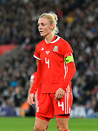 Sophie Ingle (4) of Wales during the FIFA Women's World Cup UEFA Qualifier match between England Ladies and Wales Women at the St Mary's Stadium, Southampton, England on 6 April 2018. Picture by Graham Hunt.