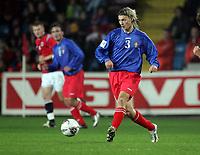 Fotball , 08. oktober 2005 , VM-kvalifisering , Norge - Moldova 1-0<br /> Norway - Moldova<br /> Alexei Savinov  Moldova