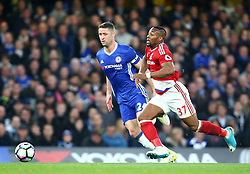 May 8, 2017 - London, England, United Kingdom - Adama Traore of Middlesbrough during Premier League match between Chelsea and Middlesbrough at Stamford Bridge, London, England on 08 May 2017. (Credit Image: © Kieran Galvin/NurPhoto via ZUMA Press)