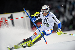 26.01.2016, Planai, Schladming, AUT, FIS Weltcup Ski Alpin, Schladming, Slalom, Herren, 1. Durchgang, im Bild Anton Lahdenperae (SWE) // Anton Lahdenperae of Sweden competes during his 1st run of men's Slalom Race of Schladming FIS Ski Alpine World Cup at the Planai in Schladming, Austria on 2016/01/26. EXPA Pictures © 2016, PhotoCredit: EXPA/ Erich Spiess