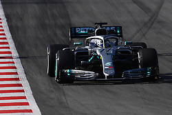 February 19, 2019 - Barcelona, Spain - The Finnish driver, Valtteri Bottas of Mercedes-AMG Petronas Motorsport, testing the new car during the first day of Formula One Test at Catalonia Circuit, on February 18, 2019 in Barcelona, Spain. (Credit Image: © Joan Cros/NurPhoto via ZUMA Press)