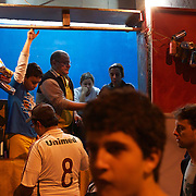 A house close to the Olympic stadium is used to sell food to the fans before the Flamengo V  Fluminense, Futebol Brasileirao  League match at Estadio Olímpico Joao Havelange, Rio de Janeiro, The classic Rio derby match ended in a 3-3 draw. Rio de Janeiro,  Brazil. 19th September 2010. Photo Tim Clayton.
