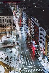 THEMENBILD - leere Strassen am Abend in der Landeshauptstadt, aufgenommen am 22. Jänner 2021 in Innsbruck, Oesterreich // Empty streets in the evening in the state capital in Innsbruck, Austria on 2021/01/22. EXPA Pictures © 2021, PhotoCredit: EXPA/ JFK