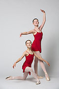 Bay Pointe Ballet company dancers pose during a marketing campaign for In The Mood at Bay Pointe Ballet in South San Francisco, California, on January 13, 2016. (Stan Olszewski/SOSKIphoto)