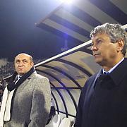 Turkish soccer...<br /> Soccer team Besiktas  Head Coach Mircea LUCESCU  during their Inonu Stadium Dolmabahce/Istanbul/Turkey.<br /> Photo by Aykut AKICI/TurkSporFoto