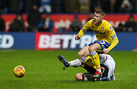 Bolton Wanderers' Andrew Taylor tackles Leeds United's  Jack Clarke<br /> <br /> Photographer Andrew Kearns/CameraSport<br /> <br /> The EFL Sky Bet Championship - Bolton Wanderers v Leeds United - Saturday 15th December 2018 - University of Bolton Stadium - Bolton<br /> <br /> World Copyright © 2018 CameraSport. All rights reserved. 43 Linden Ave. Countesthorpe. Leicester. England. LE8 5PG - Tel: +44 (0) 116 277 4147 - admin@camerasport.com - www.camerasport.com