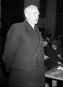 04/03/1957<br /> 04/03/1957<br /> 04 March 1957<br /> Taoiseach John A. Costello speaking at Eve of Poll Rallies at the GPO Dublin for Fine Gael.