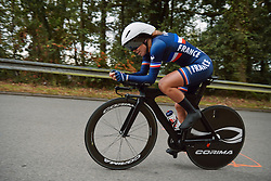 Marie Le Deunff (FRA) at the 2020 UEC Road European Championships - Junior Women ITT, a 25.6 km individual time trial in Plouay, France on August 24, 2020. Photo by Sean Robinson/velofocus.com