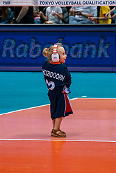 10-08-2019 NED: FIVB Tokyo Volleyball Qualification 2019 / Belgium - Netherlands, Rotterdam<br /> Third match pool B in hall Ahoy between Belgium vs. Netherlands (0-3) for one Olympic ticket / Hoogendoorn, youth