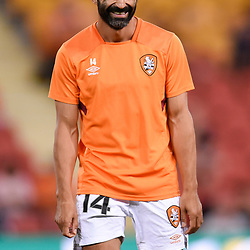 BRISBANE, AUSTRALIA - NOVEMBER 17: Fahid Ben Khalfallah of the Roar laughs while warming up before the Round 7 Hyundai A-League match between Brisbane Roar and Melbourne City on November 17, 2017 in Brisbane, Australia. (Photo by Patrick Kearney / Brisbane Roar FC)
