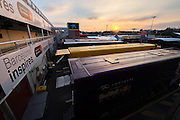 February 19-22, 2015: Formula 1 Pre-season testing Barcelona : Barcelona paddock at sunset