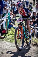 Erin Huck (USA) during the Women Elite Cross Country event at the 2018 UCI MTB World Championships - Lenzerheide, Switzerland