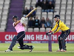 Middlesex's Neil Dexter hits a 6 - Photo mandatory by-line: Robbie Stephenson/JMP - Mobile: 07966 386802 - 04/06/2015 - SPORT - Cricket - Southampton - The Ageas Bowl - Hampshire v Middlesex - Natwest T20 Blast