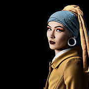 An updated image of Vermeers' 'Girl with the pearl earring'