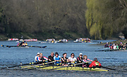 Mortlake/Chiswick, GREATER LONDON. United Kingdom. Barnes Bridge Ladies Rowing Club/Thames RC/Fredensborg<br /> RC (DK)/Mortlake AABC/Tideway Scullers School/Upper<br /> Thames Rowing Club, competing in the 2017 Vesta Veterans Head of the River Race, The Championship Course, Putney to Mortlake on the River Thames.<br /> <br /> <br /> Sunday  26/03/2017<br /> <br /> [Mandatory Credit; Peter SPURRIER/Intersport Images]