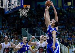 Mirza Begic of Olimpija at third finals basketball match of Slovenian Men UPC League between KK Union Olimpija and KK Helios Domzale, on June 2, 2009, in Arena Tivoli, Ljubljana, Slovenia. Union Olimpija won 69:58 and became Slovenian National Champion for the season 2008/2009. (Photo by Vid Ponikvar / Sportida)