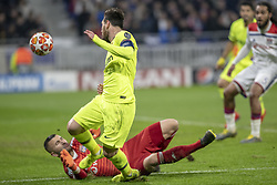 February 19, 2019 - Lyon, França - LYON, LY - 19.02.2019: LYON X BARCELONA - Messi almost scored the first goal of the game during the match between Lyon and Barcelona held at Parc Olympique Lyonnais in Lyon. The match is valid for the octaves of the Champions League 2018/2019. (Credit Image: © Richard Callis/Fotoarena via ZUMA Press)