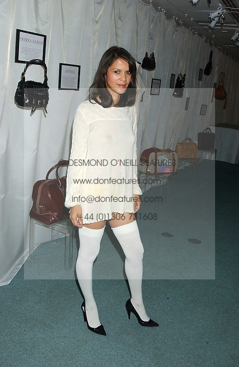 LISA MOORISH at Reach 4 Fashion 2005 in aid of the REACH Leukaemia Appeal hosted by designers Sadie Frost and Jemima French of fashion label FrostFrench held at 88 St.James' Street, London SW1 on 8th November 2005.<br /><br />NON EXCLUSIVE - WORLD RIGHTS