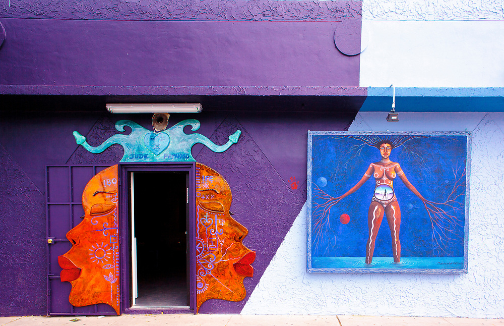 Haitian-born artist Jude Papaloko's studio in Miami's Wynwood street art district.