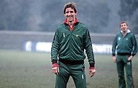 Chris Nicholl, footballer, N Ireland & Southampton, during a training session at St Albans prior to their international fixture against England at Wembley, London, UK. 19820223014CN<br /> <br /> Copyright Image from Victor Patterson, Belfast, UK<br /> <br /> t: +44 28 9066 1296 (from Rep of Ireland 048 9066 1296)<br /> m: +44 7802 353836<br /> e: victorpattersonbelfast@gmail.com<br /> <br /> www.images4media.com<br /> <br /> Please see my full Terms and Conditions of Use at https://www.images4media.com/p/terms-conditions - it is IMPORTANT that you familiarise yourself with them.<br /> <br /> Images used online incur an additional cost. This cost should be agreed in writing in advance. Online images must be visibly watermarked i.e. © Victor Patterson or that of the named photographer within the body of the image. The original metadata must not be deleted from images used online.<br /> <br /> This image is only available for the use of the download recipient i.e. television station, newspaper, magazine, book publisher, etc, and must not be passed on to a third party. It is also downloaded on condition that each and every usage is notified within 7 days to victorpattersonbelfast@gmail.com.<br /> <br /> The right of Victor Patterson (or the named photographer) to be identified as the author is asserted in accordance with The Copyright Designs And Patents Act (1988). All moral rights are asserted.