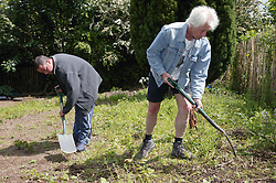 Service Users of Alcohol Support Services housing facility gaining self confidence through gardening project,