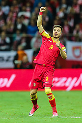 October 8, 2017 - Warsaw, Poland - Stefan Mugosa (MNE) celebrates after he scored a goal   during Poland and Montenegro World Cup 2018 qualifier match in Warsaw, Poland, on 8 October 2017. POLAND won 4-2 and take on their World Cup 2018 qualifier. (Credit Image: © Foto Olimpik/NurPhoto via ZUMA Press)