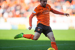 Dundee United's Paul McMullan scoring their third goal. half time : Dundee United 3 v 0 Morton, Scottish Championship game played 28/9/2019 at Dundee United's stadium Tannadice Park.
