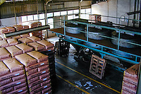 Indonesia, Java, Cisarua. Processing and packing of tea. The tea is divided in various classes, where the best quality is exported.