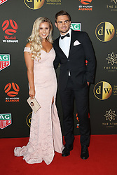 Players from the Westfield W-League and Hyundai A-League arrive on the red carpet for the 2018 Dolan Warren Awards at The Star Event Centre - 80 Pyrmont St, Pyrmont, NSW. 30 Apr 2018 Pictured: Ebony Tolcon, Josh Risdon. Photo credit: Richard Milnes / MEGA TheMegaAgency.com +1 888 505 6342