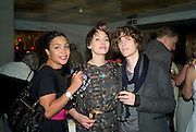 SARAH HARTLAND; LEAH PRENTICE; DAN COOPEY, The Hayward Gallery 40th birthday Gala. hayward Gallery. South Bank. 9 July 2008 *** Local Caption *** -DO NOT ARCHIVE-© Copyright Photograph by Dafydd Jones. 248 Clapham Rd. London SW9 0PZ. Tel 0207 820 0771. www.dafjones.com.