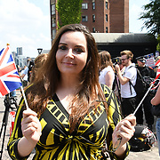Speaker Elizabeth Jones, UKIP NEC/London rally to Welcoming Trump to London Rally - Make Britain Great Again outside US Embassy, London, UK. July 14 2018.