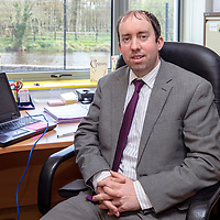 Principle of Scoil Chríost Rí Gearoid Roughan in his office at the new state of the art building which opened recently