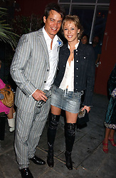 MATTHEW MELLON and LADY ALEXANDRA SPENCER-CHURCHILL at the launch of 'Blow Lips' a new lipstick by Isabella Blow and MAC Makeup held at the the Blow de la Barra Gallery, 35 Heddon Street, London on 7th September 2005.<br />